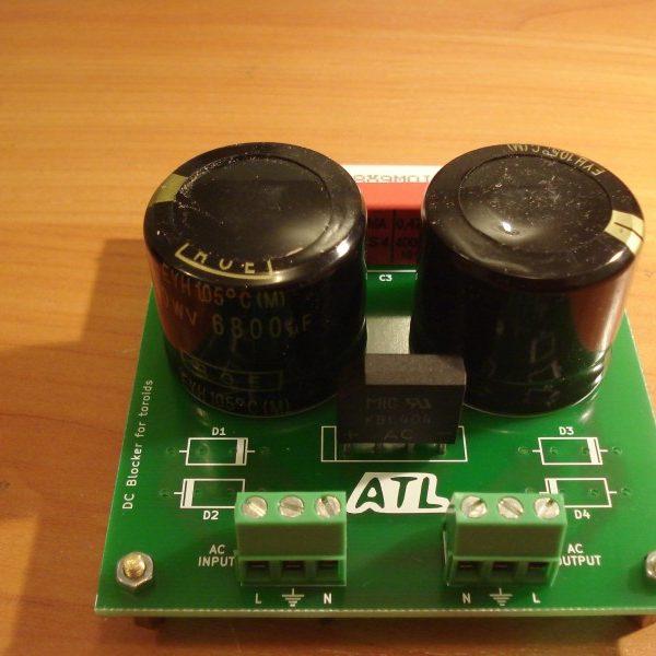 DC trap/filter/blocker for toroidal transformers