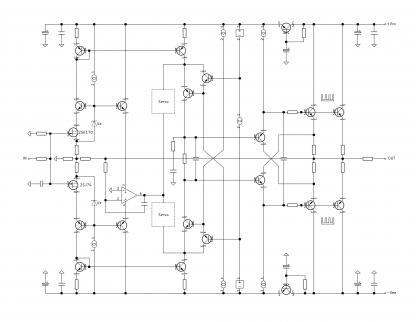 CF Headphone Amplifier Block Schematic