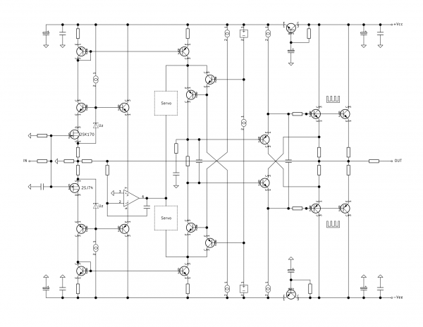 CF Headphone Amplifier Block Schematic