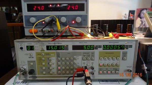 CFA THD: 15KHz, 60 Ohm load, 5 v rms - 0.00057%