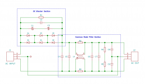 Combined module DC Blocker & Common Mode Filter