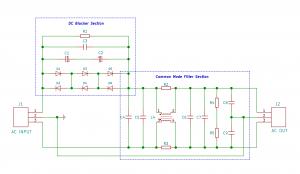 Combined module DC Blocker & Common Mode Filter